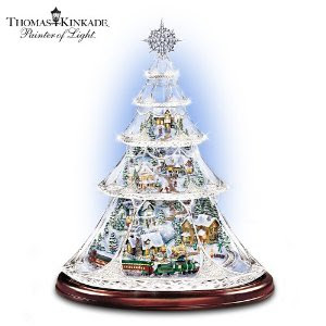 Thomas Kinkade Animated Crystal Christmas Tree
