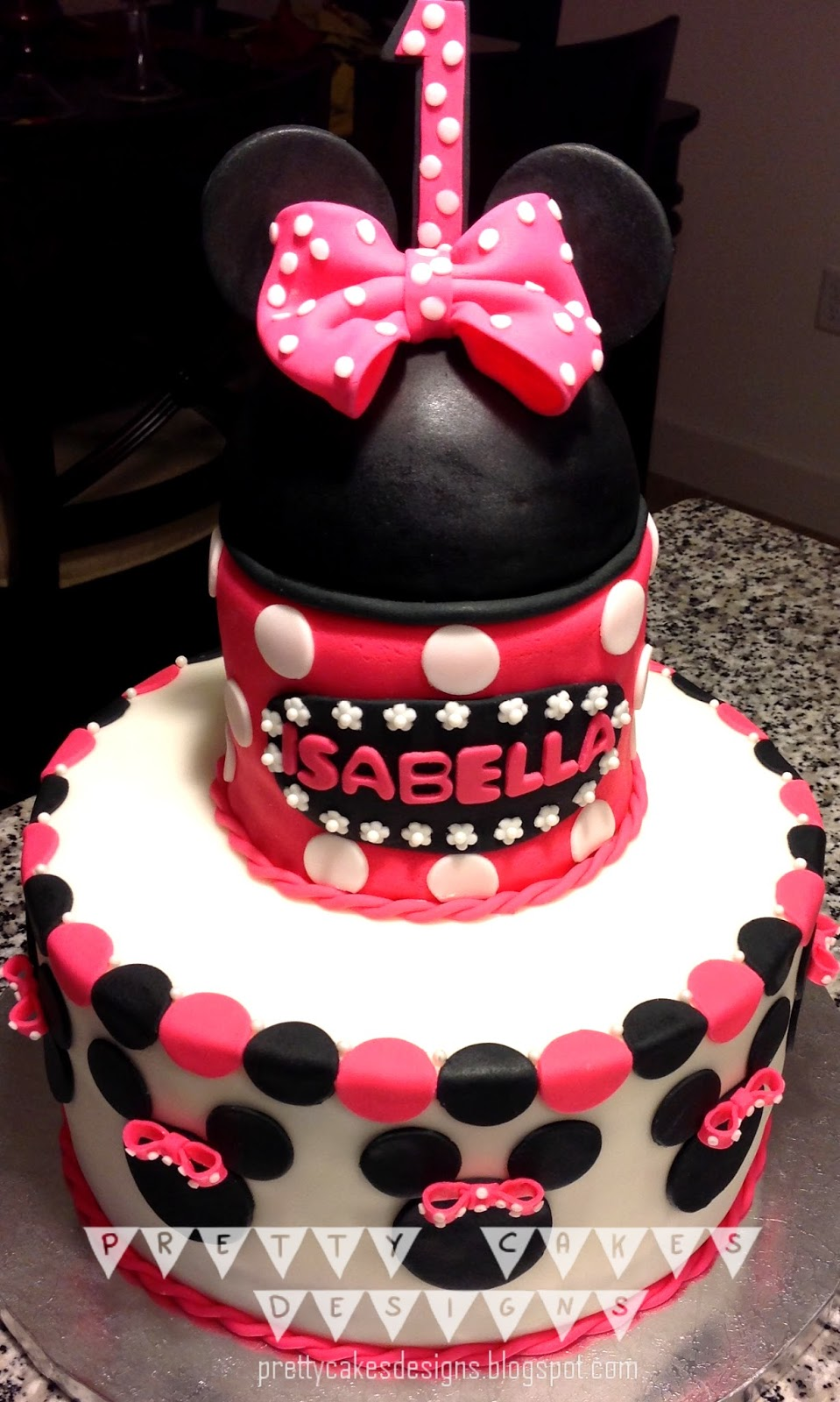 Pretty Cakes Designs Minnie Mouse First Birthday