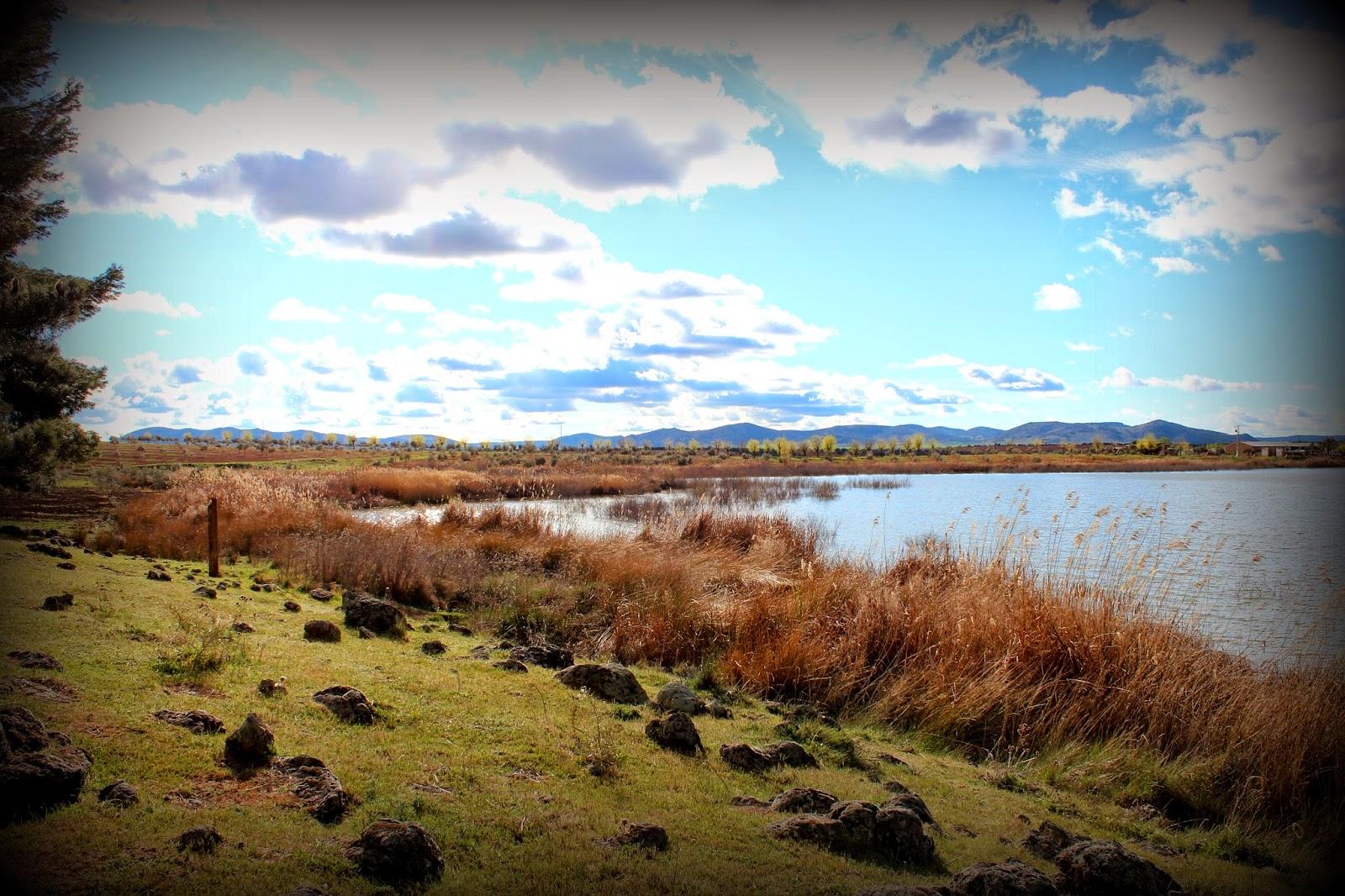 Paisajes del embalse del río Jabalón