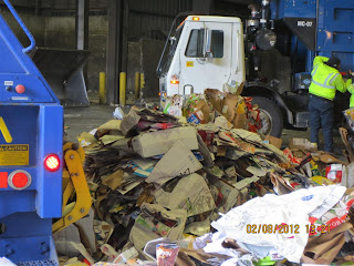 cardboard pile at Recycling Center