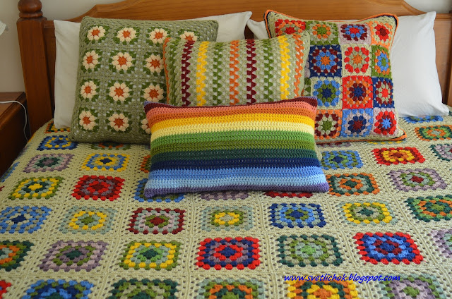 Вязание накидок на подушки 277
