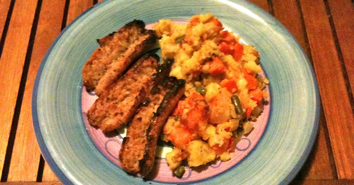... : Allergy free bubble and squeak with crispy chicken sausages recipe