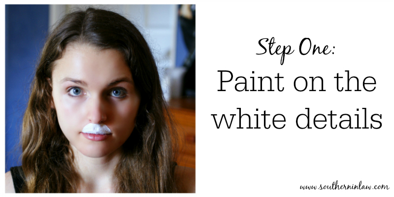 Kitten Or Bunny Face Paint Step One   Paint On The White Details