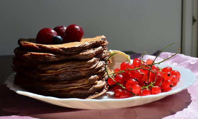 czekoladowe placuszki z miętą