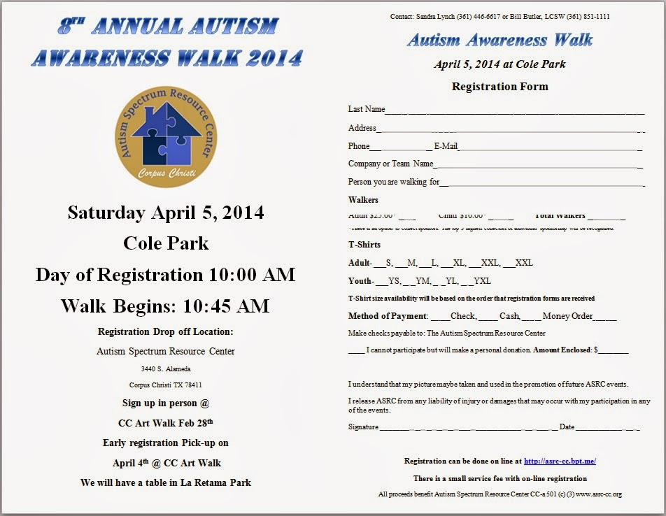 Autism Spectrum Resource Center of Corpus Christi: 2014 Walk ...