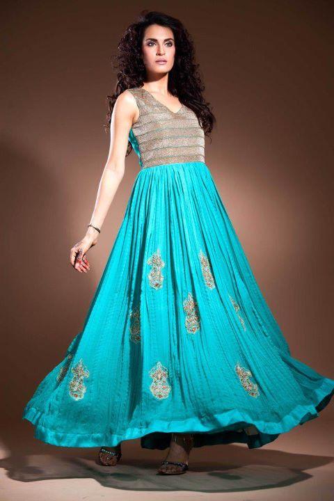 Latest fashion pakistani fancy frocks party dresses fashion designs