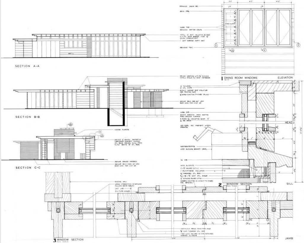 Rosenbaum house site plan