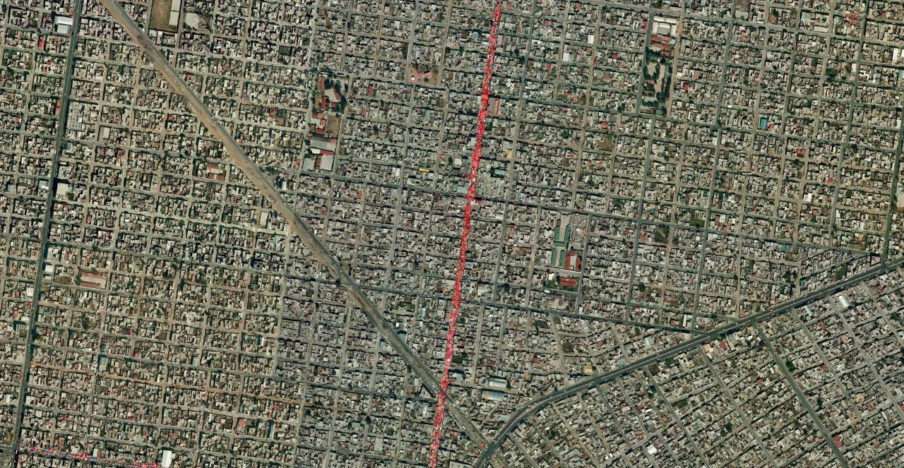 mexico city map satellite