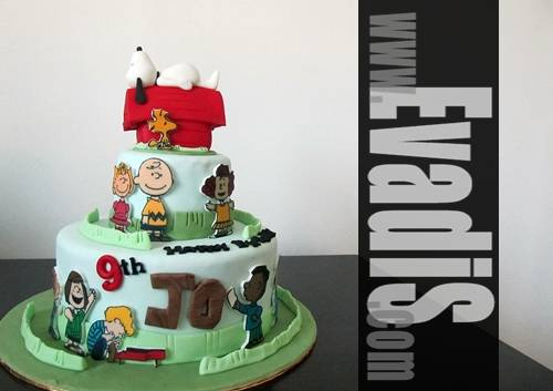 Penang Cakes Evadis Cakes Snoopy 2 Tiers Birthday Cakes in Penang
