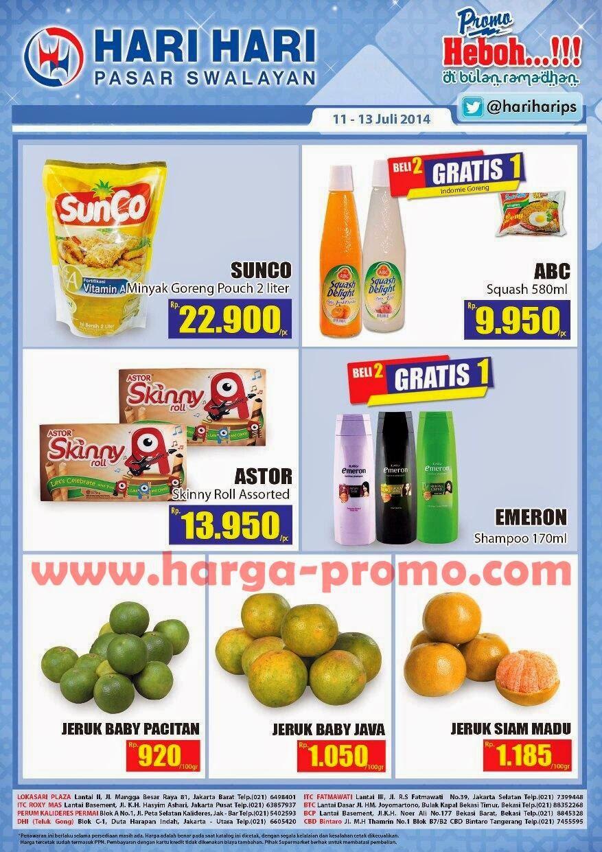 Promo hari-hari pasar swalayan akhir pekan periode 11 - 13 juli 2014