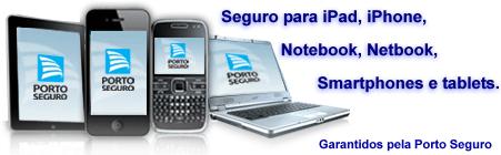 seguro de notebook, iPhone, smartphone, máquina fotogrática e filmadora
