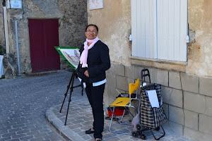 Concours de peinture de rue à Barsac en Gironde