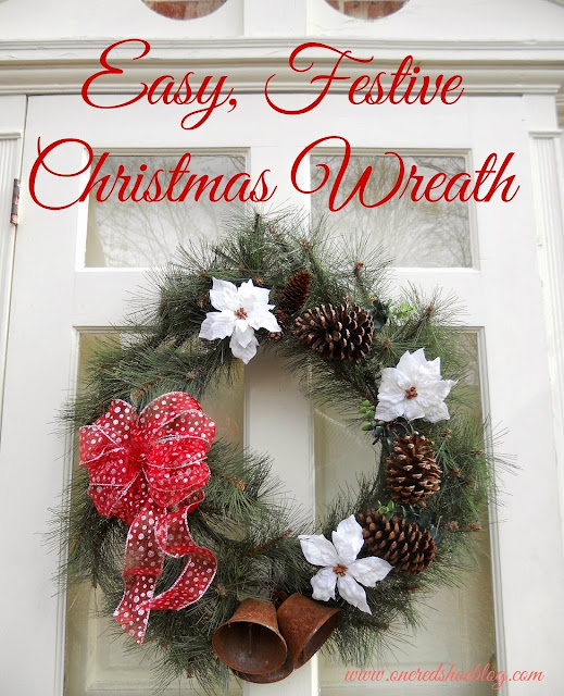 Recycle an old wreath into a new winter wreath