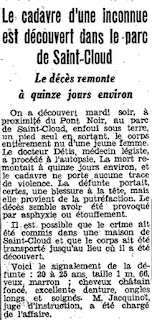 image of Le Matin newspaper article on the murder, november 1943