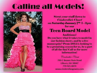 Teen board ... Closet this Saturday from 1 3pm for our Teen Board Model Auditions!