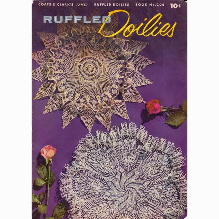 Vintage Knit Crochet Shop Talk Ruffled Doilies Pattern Book No 306