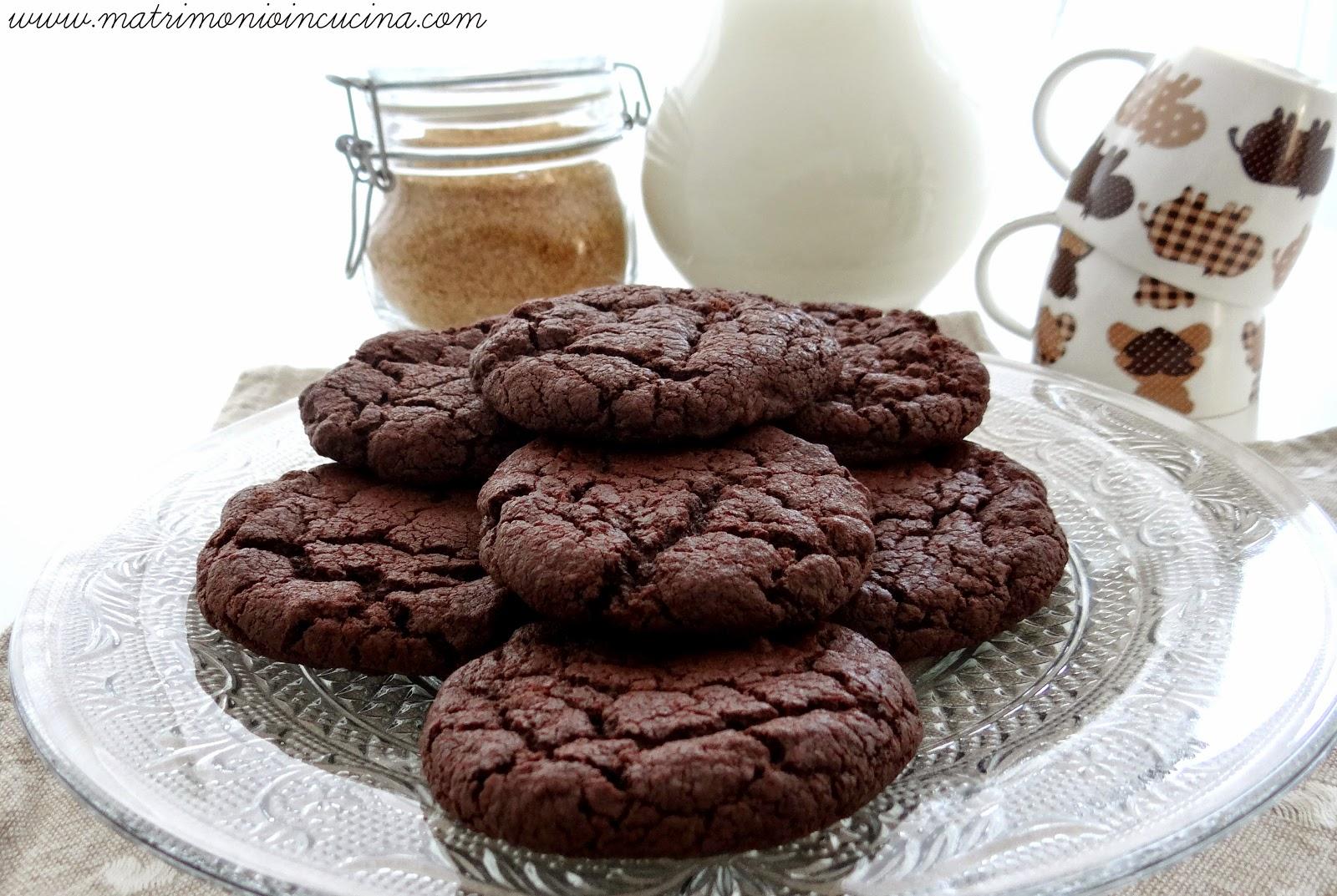 Biscotti al doppio cioccolato d Donna Hay, cookies, recipe, ricetta