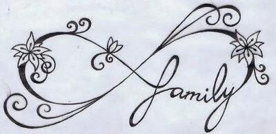 Ιnfinity symbol vine tattoo stencil