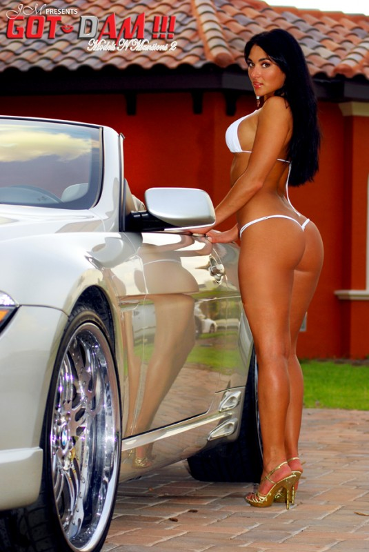 naked women with fast cars