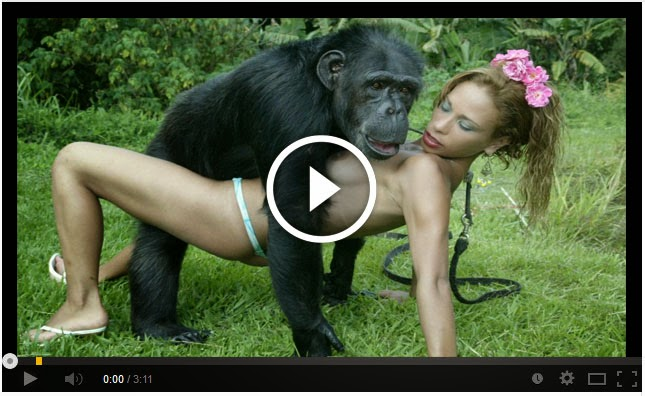 monkey sex with blond girl