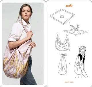 Trasformare un foulard in una borsa | DIY: turn a scarf into a bag