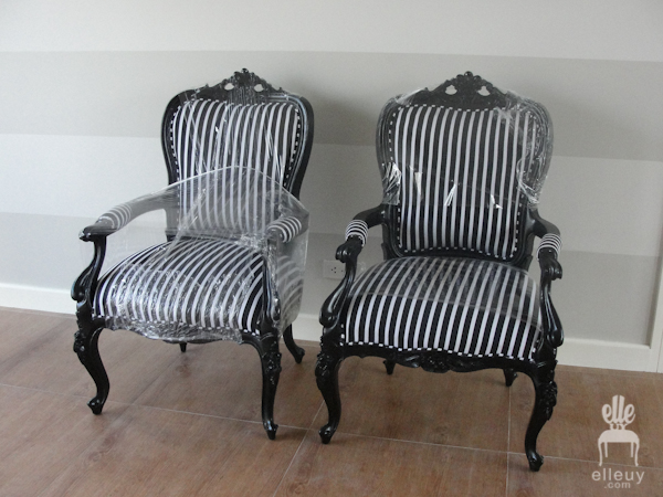 french chairs, painted chair, reupholstered chair, chair before and after