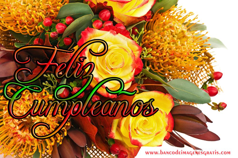 173 Postales musicales de cumpleaños con rosas rojas  - Imagenes Para Cumpleaños Con Rosas