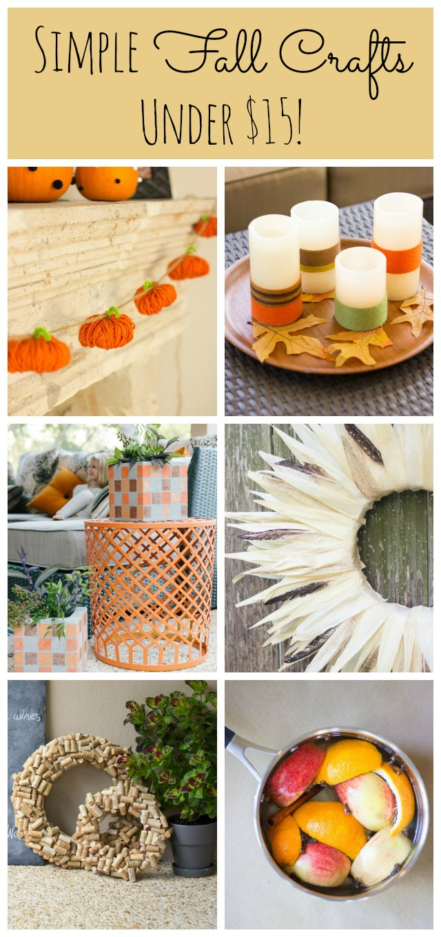 Simple fall craft ideas you can make for under $15! || Design Improvised blog