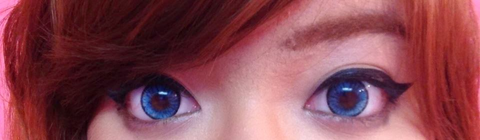 Turn Dark Brown Eyes Blue using Beuberry Chariot Blue Circle Lenses