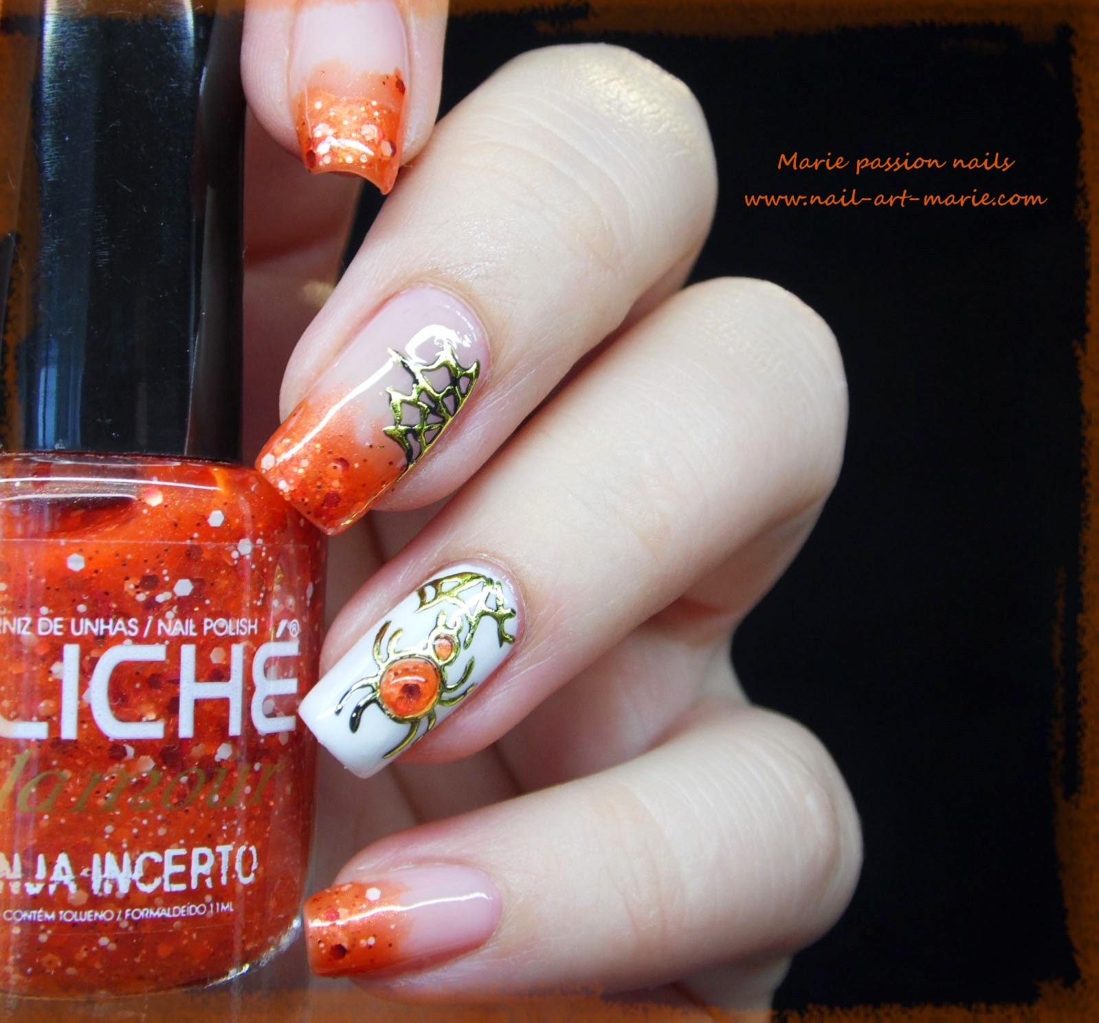 Nail Art Halloween Chic1
