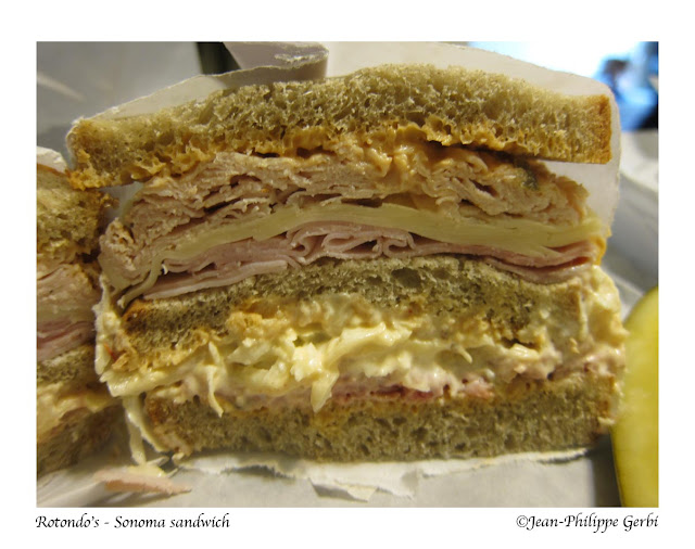 Image of Sonoma sandwich at Rotondo's deli in Rahway, NJ New Jersey