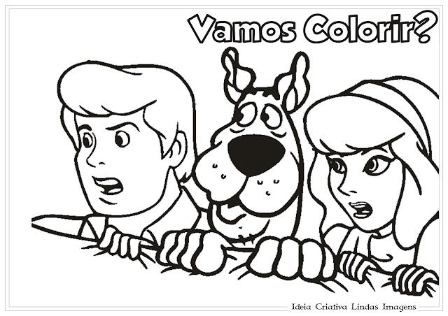 Scooby Doo Dafne e Fred desenho para colorir