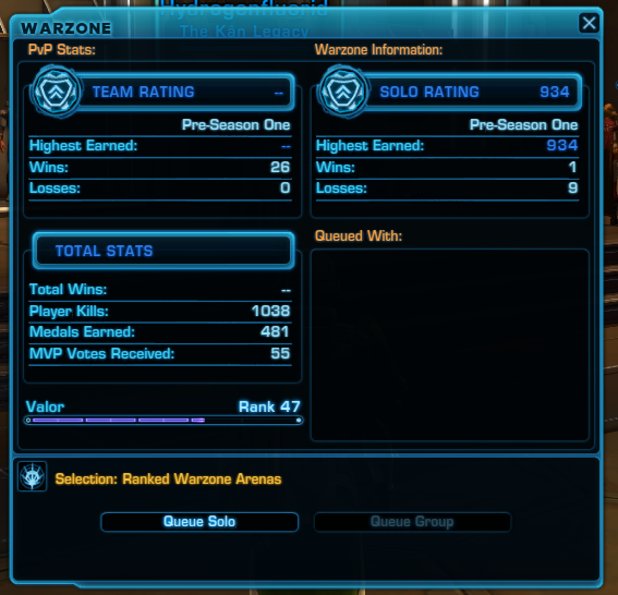 swtor arena matchmaking Newish to arenas and trying to get my head around a few things (sorry if this has been posted elsewhere before, i couldnt find it) matchmaking rating, as i understand - determines the level of skill shall we say team i come up against you are going to come up against something with round about.
