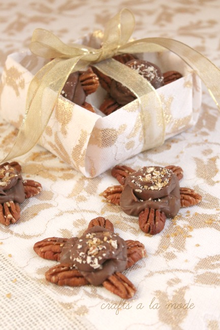 How to make chocolate turtles using Rolos