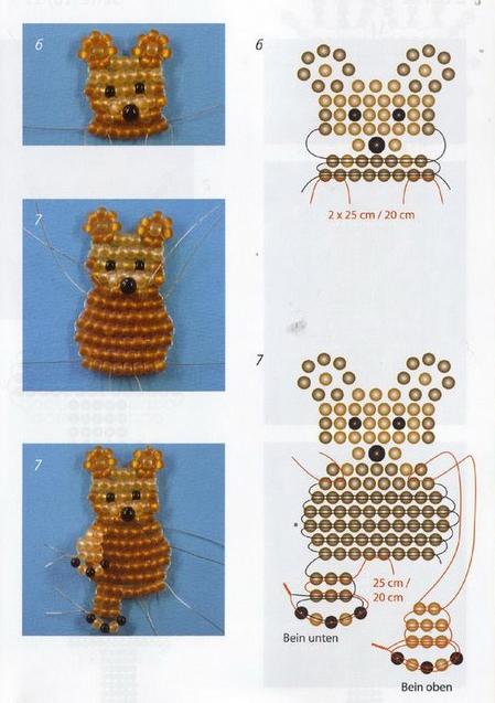 мишка. Схема плетения