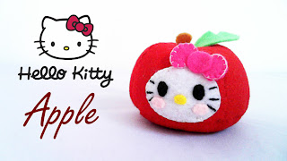 How to Make a Hello Kitty Apple plushie tutorial