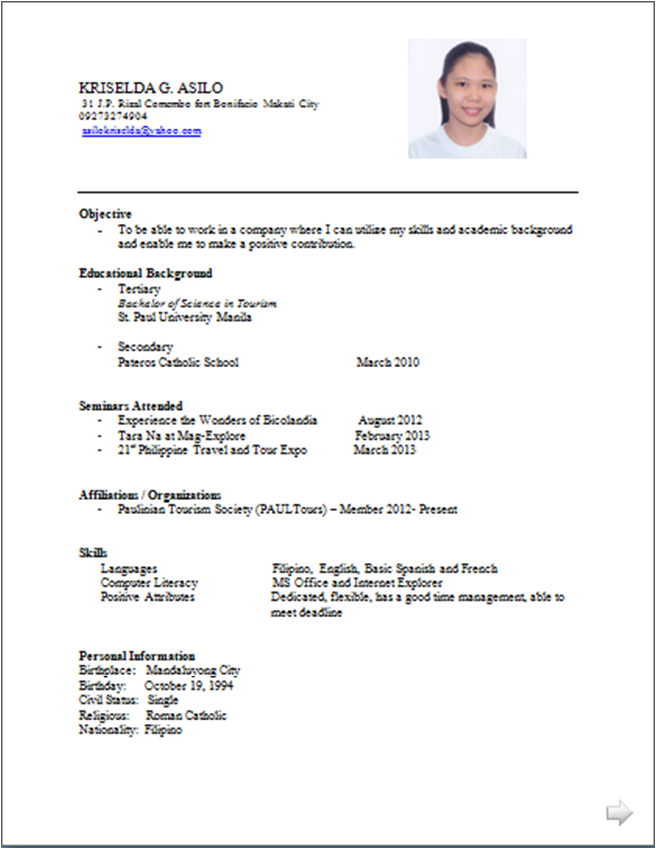 example ng resume halimbawa ng resume security guard resume quotes ...