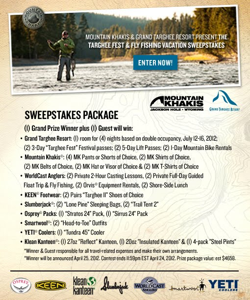 Targhee Fest & Fly Fishing Vacation Sweepstakes