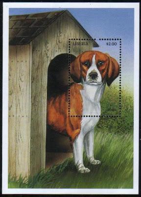 1999年リベリア共和国 ビーグルの切手シート