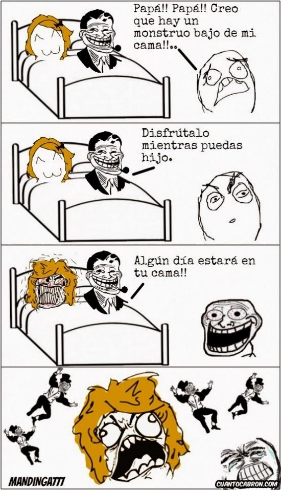 imágenes graciosas - creo que hay un monstruo bajo de mi cama...
