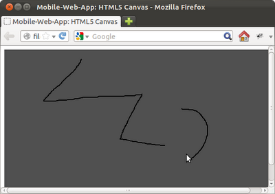 Example to detect mouse event and free-draw on HTML5 canvas, using