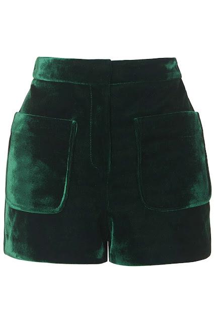 bottle green velvet short, green velvet shorts,