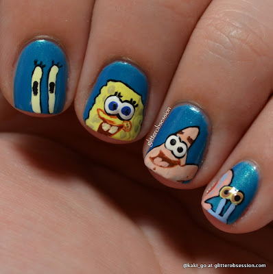 Favorite Underwater Animal / Spongebob Nail Art