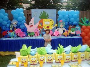 Decoração de festa infantil do Bob Esponja