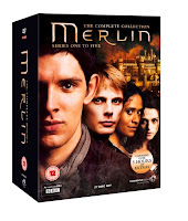 merlin, bbc, 5-series box set