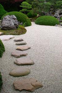 pedras no jardim japonês
