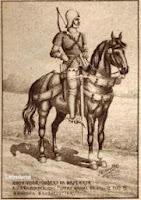 Bereden boogschutter tijdens het Bourgondisch tijdperk