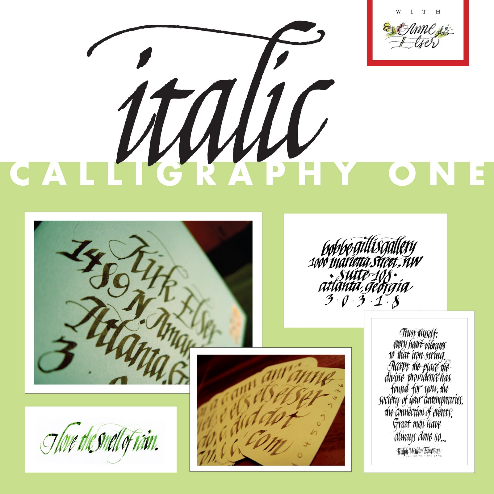 Anne Elser January Italic Calligraphy Bookbinding Classes