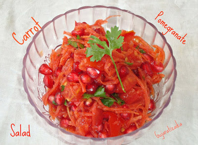 carrot pomegranate salad