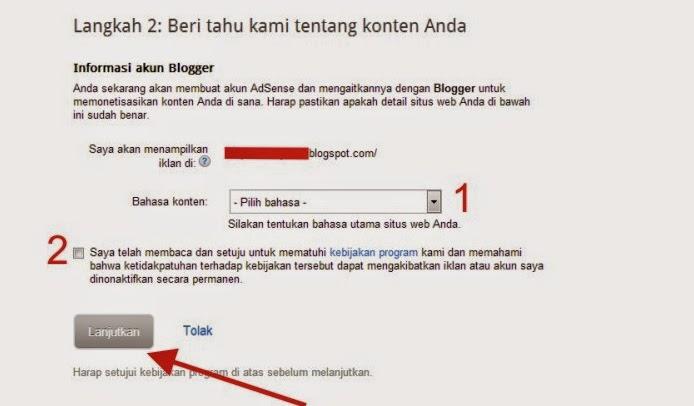 Cara Lengkap Daftar Google Adsense Blogger